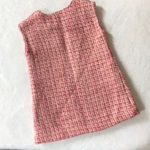 GAP Dresses - Baby gap pink/gold Boucle dress size 18-24 months
